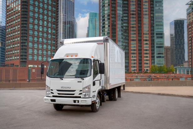 Isuzu Light Duty White Truck