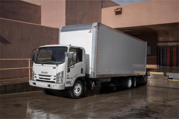 Isuzu Medium Duty White Truck