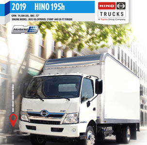 Hino 195h Hybrid Medium Duty Truck