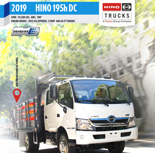 Hino 195h DC Hybrid Medium Duty Truck